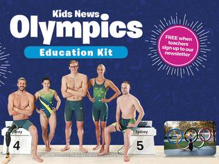 Kids News Olympics Education Kit artwork for intro story and education kits home page.