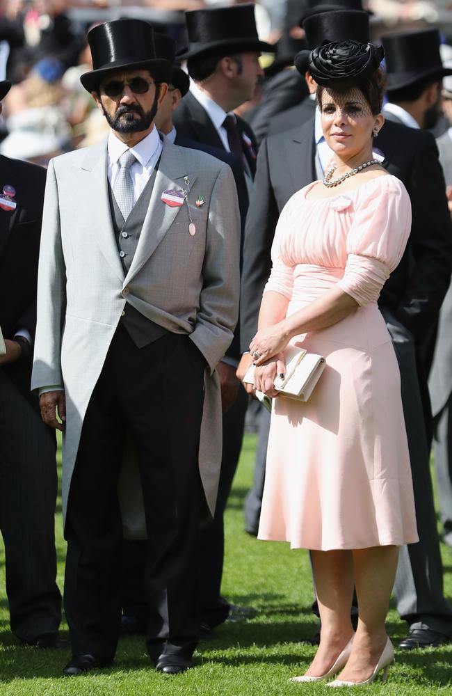Sheikh Mohammed Bin Rashid Al Maktoum, and Princess Haya bint Al Hussein at Royal Ascot in June 2016. Picture: Chris Jackson/Getty Images