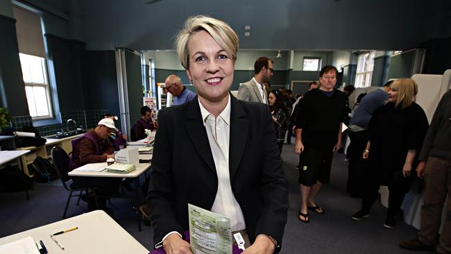 Deputy Labor Leader Tanya Plibersek voting at Darlinghurst Public School. She's not expected to challenge. Picture: Adam Yip/The Daily Telegraph