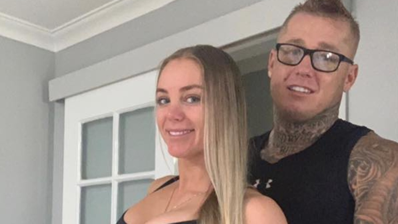 Ricky Chapman, pictured with his partner Stacey Schoppe, was injured in the shooting on Saturday night. Picture: Facebook.