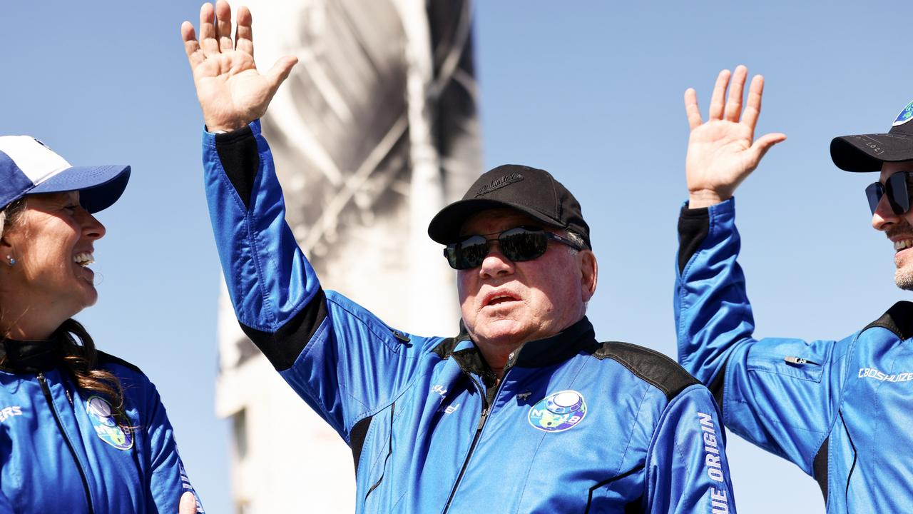 Shatner flew into space on October 13. Picture: Mario Tama/Getty Images