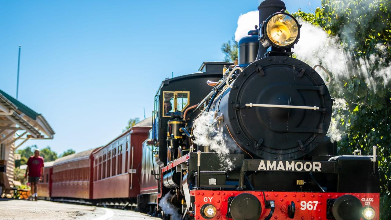 Steamy-y date. Jump aboard the Mary River Rattler.