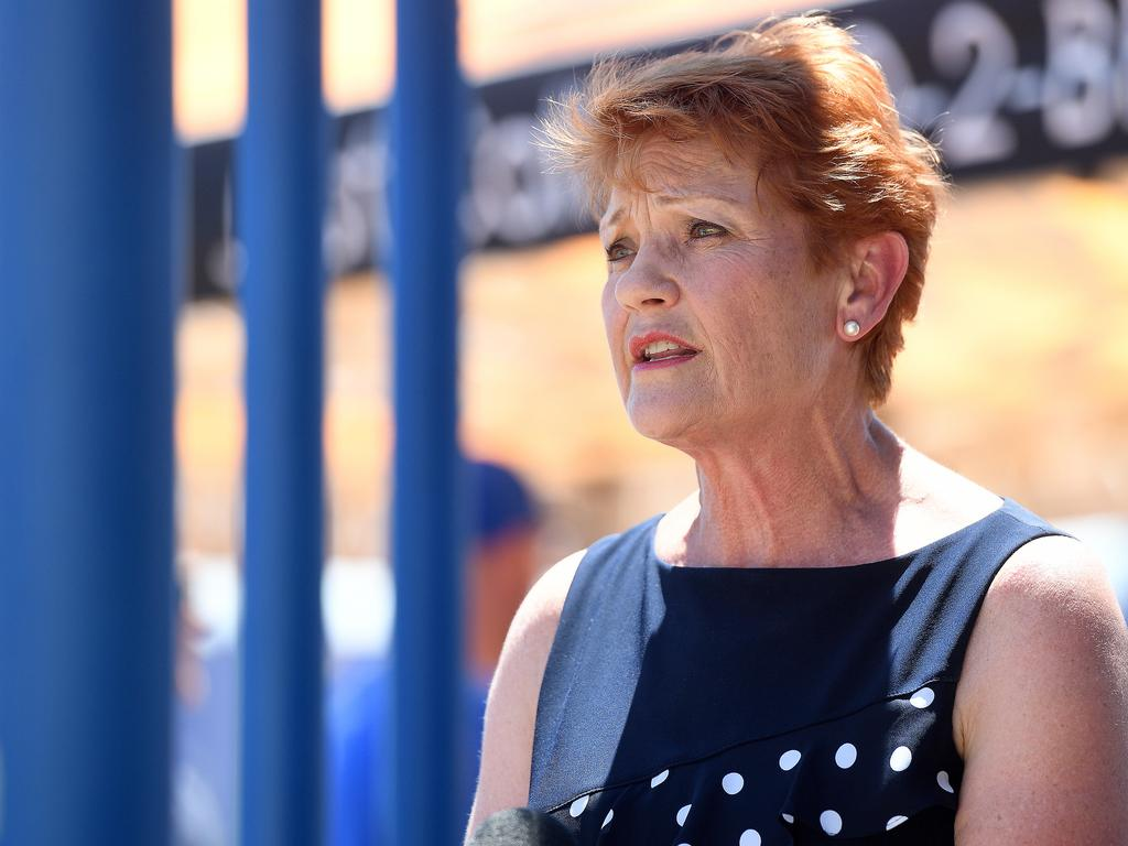 The One Nation leader believes Australia's public health restrictions are a gross over-reaction to the actual risk posed by Covid-19. Picture: Matt Taylor
