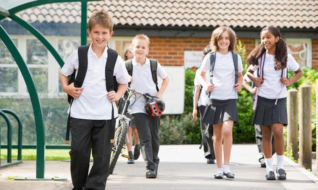 Junior children leaving school