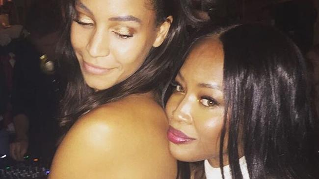 Chantal Monaghan with Naomi Campbell. Picture: Instagram