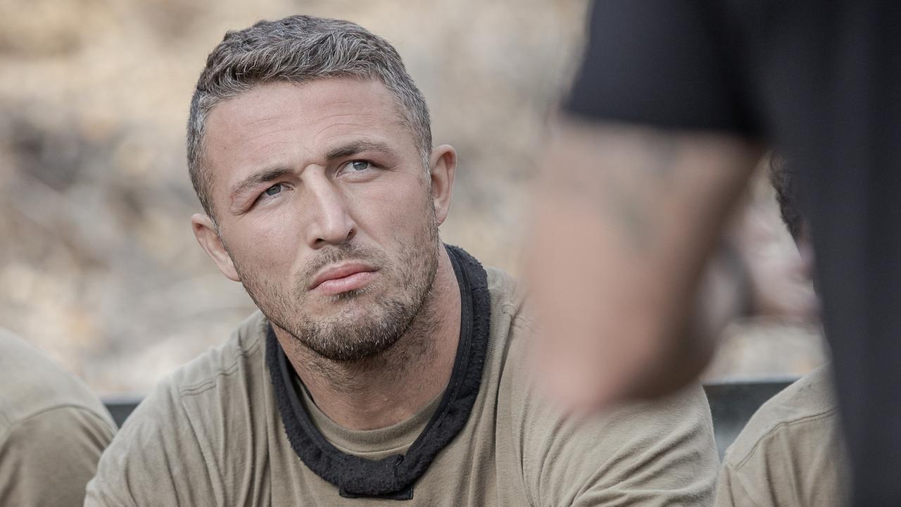 Sam Burgess on Seven's SAS Australia.