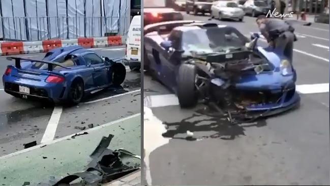 Influencer wrecks $2m supercar in lockdown drift