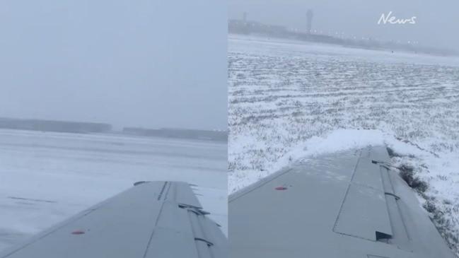 American Airlines plane skids off runway