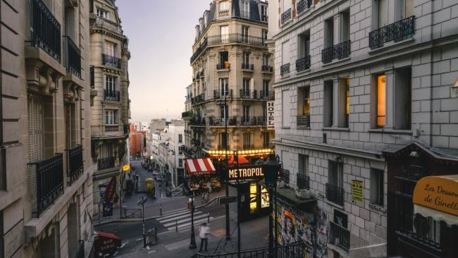 Montmartre - Paris, France For the love of all that is holy step AWAY from the gaudy lights of the Moulin Rouge (and the rather seedy sex-shop filled portion of the street it is on) and instead look for the prettier streets of the 18th arrondissement. Picture: John Towner/Unsplash