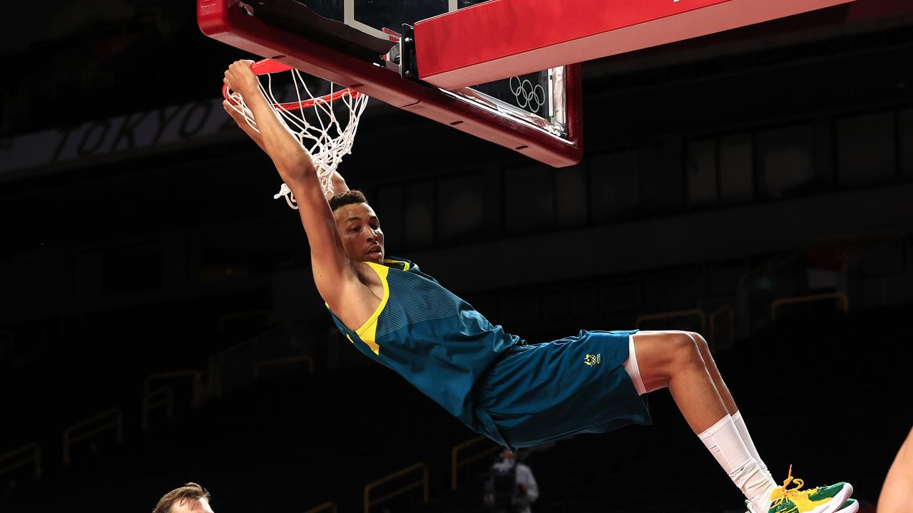 Dante Exum could be returning to the Houston Rockets following a memorable Tokyo 2020 Olympics. Pics Adam Head
