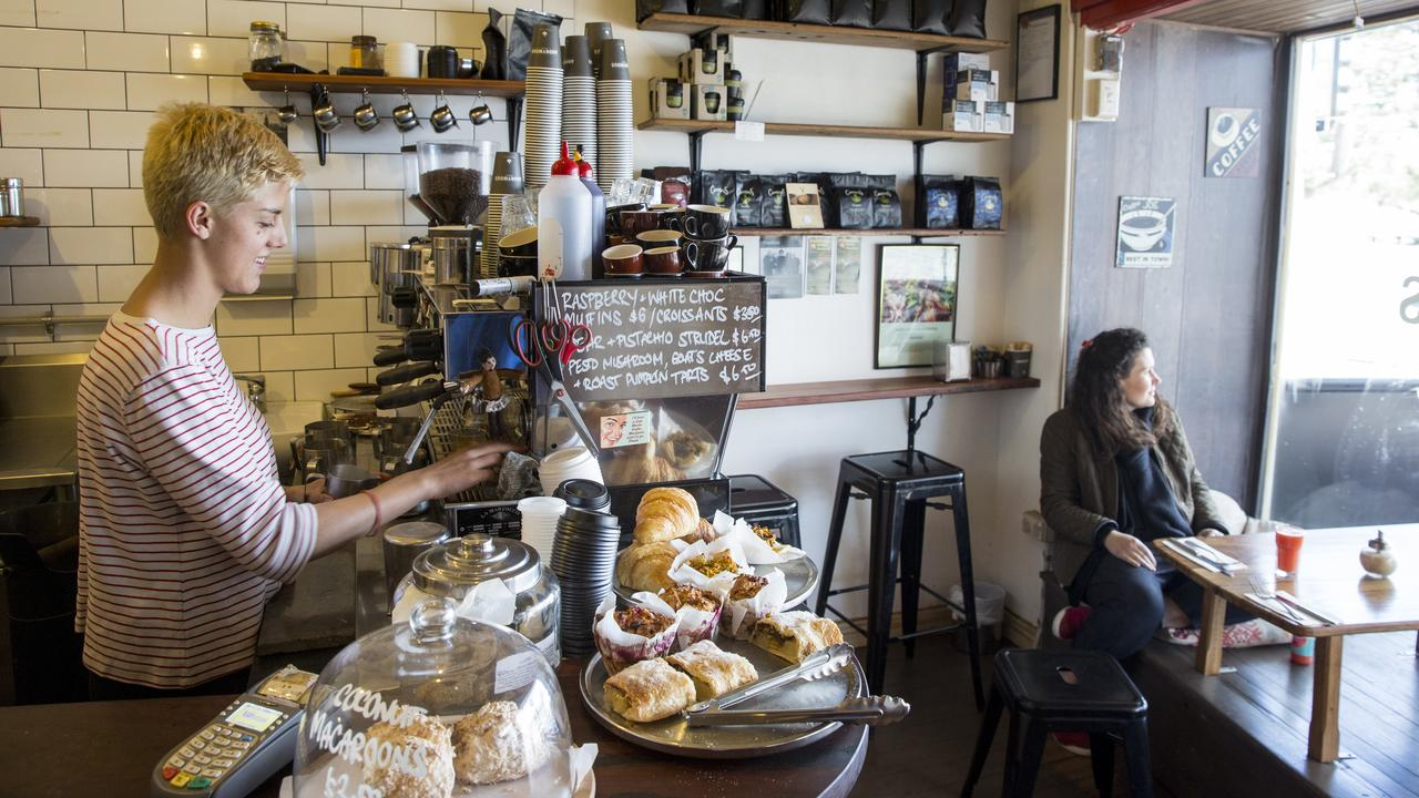 lackheath, Blue Mountains Mandatory credit: Destination NSW Description: Barista and customer at Anonymous Cafe, Blackheath, Blue Mountains.