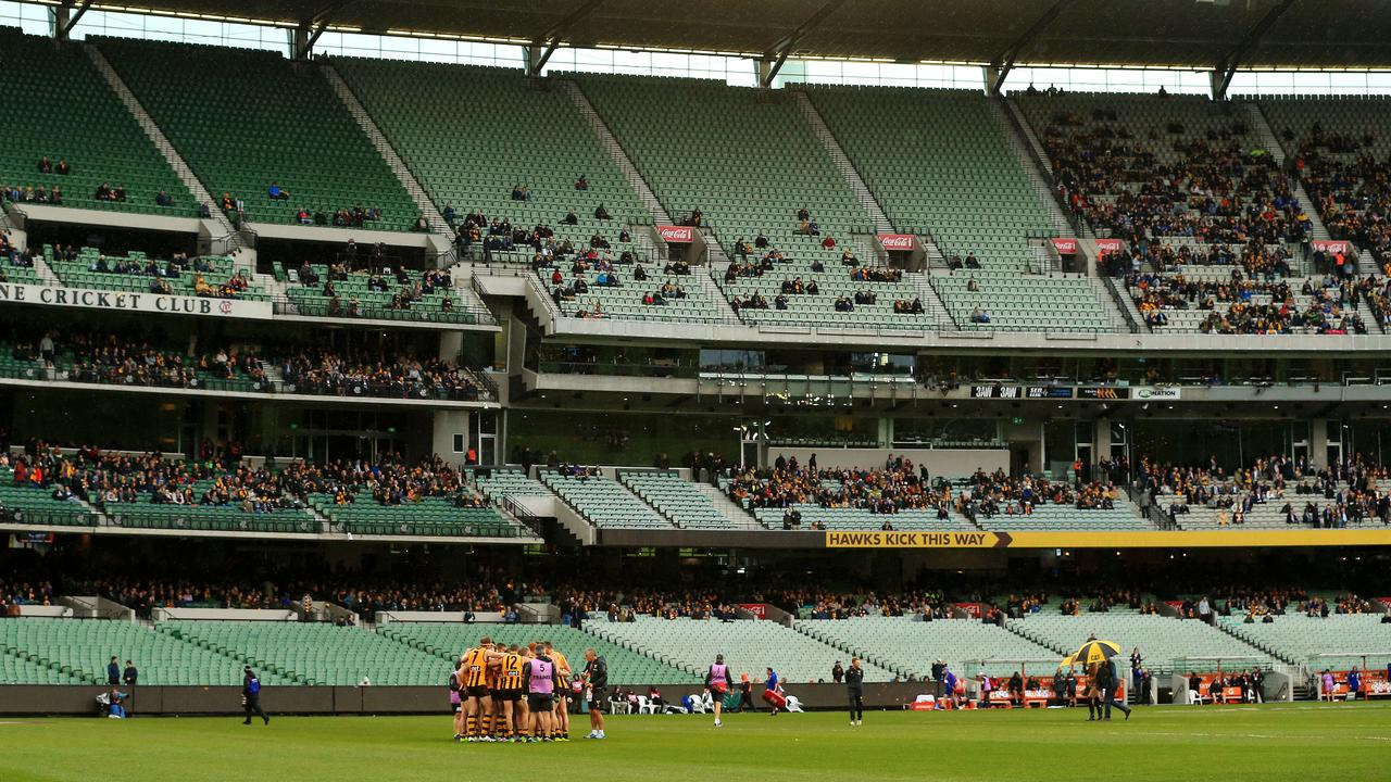 AFL 2019: 'Suffering in silence'...? Another poor crowd in Hawks' '$1m' feud