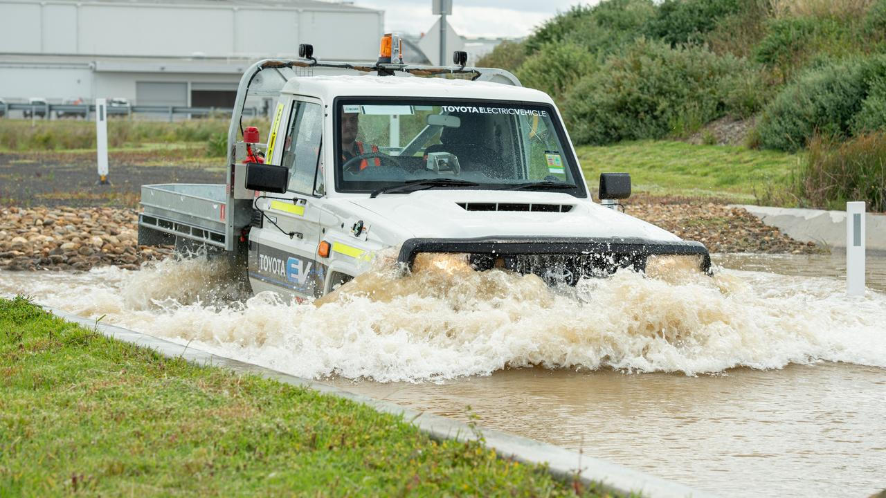 The electric LandCruiser remains a rugged and versatile vehicle.