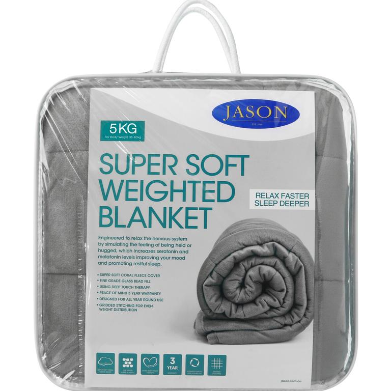 The retailer will have 30 per cent of its Jason weighted blankets. Picture: Big W