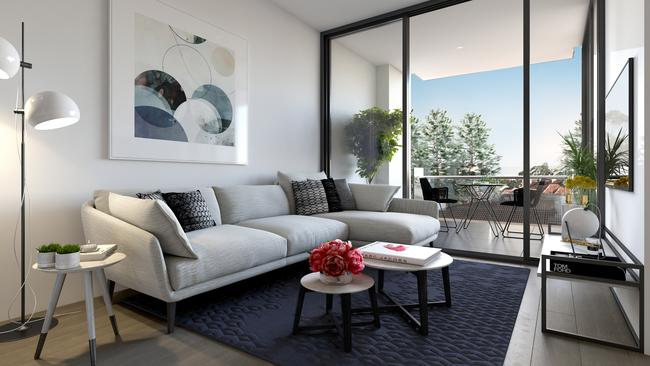 The apartments have been designed to have a homey feel.