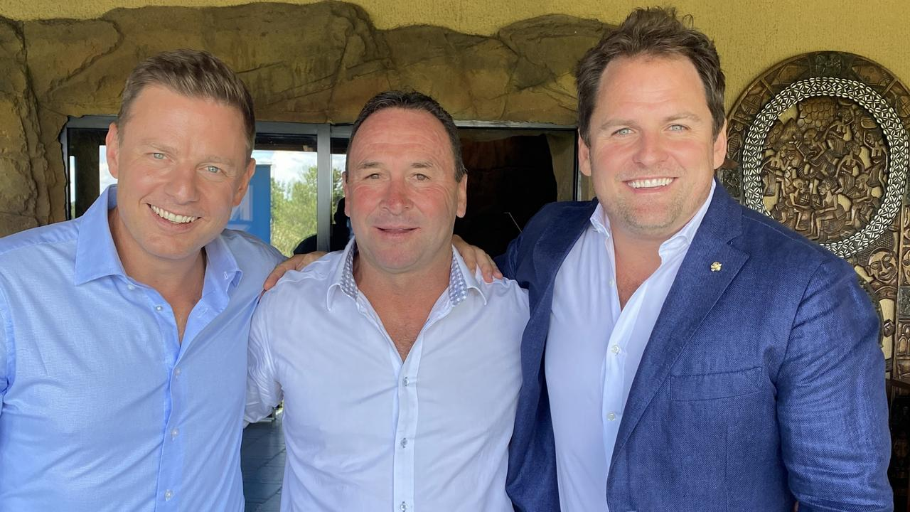 Ricky Stuart with Ben and Nick Fordham at the annual Ricky Stuart Foundation lunch.