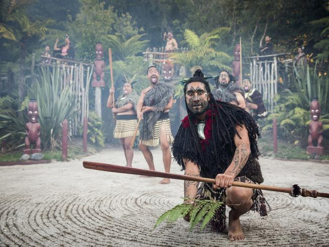 DISCOVER THE CULTURE OF THE LOCAL MAORI PEOPLE WITH TAMAKI TOURS This authentic Maori village nestled in a Rotorua forest is where you can be formally welcomed onto sacred grounds, discover Maori art forms, take part in ancient rituals and learn fascinating Maori traditions. You'll enjoy song and dance before feasting on a traditional meal, cooked beneath the ground on hot stones. Picture: Graeme Murray