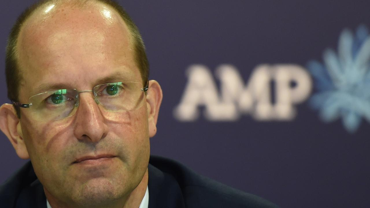 AMP CEO Craig Meller resigned after apologising 'unreservedly' for the scandals heard at the royal commission. Picture: AAP Image/Dean Lewins