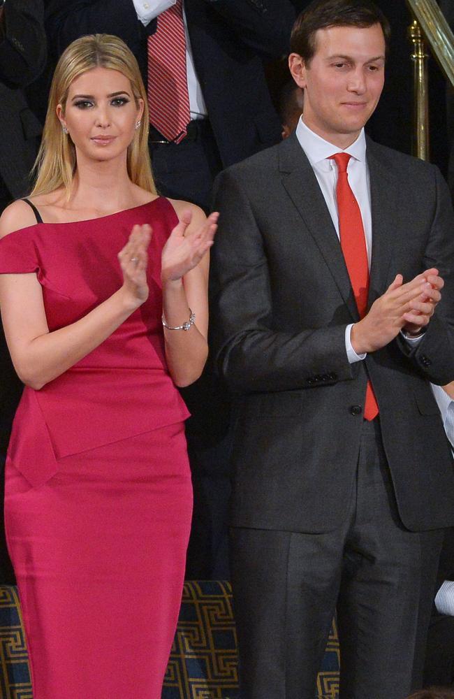 Ivanka Trump and husband Jared Kushner both advise Donald Trump. Picture: AFP/Mandel Ngan