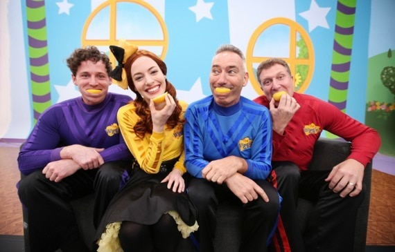The Wiggles take up Annabelle's Lemon Face Challenge