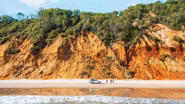 2/5Rainbow Beach Ultimate CampingIf waking up to the sound of waves gently lapping the shoreline is your idea of paradise, Rainbow Beach Ultimate Camping is for you. Here they offer fully equipped and completely private beach campsites overlooking the Heritage-listed Fraser Island from Inskip Point. All you have to do is bring your clothes, with everything you need from your tent to cooking facilities and even a toilet and shower set up for your private use. Located just 10 minutes from Rainbow Beach township, it is the perfect base to explore the coloured sands of Great Beach Drive (pictured) or journey north on a day trip to Fraser Island. Picture: Visit Sunshine Coast