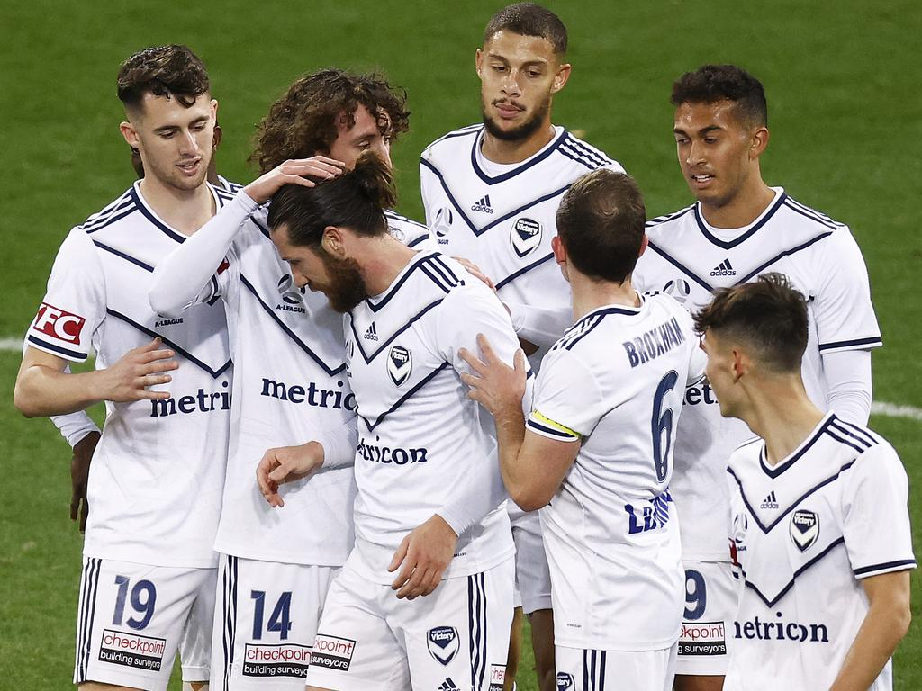 Melbourne Victory were much too good for Western on Friday night. (Photo by Daniel Pockett/Getty Images)