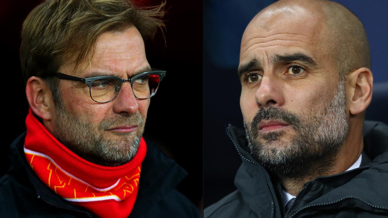 Pep Guardiola is not happy with Jurgen Klopp. (Photo by Michael Steele/Getty Images)