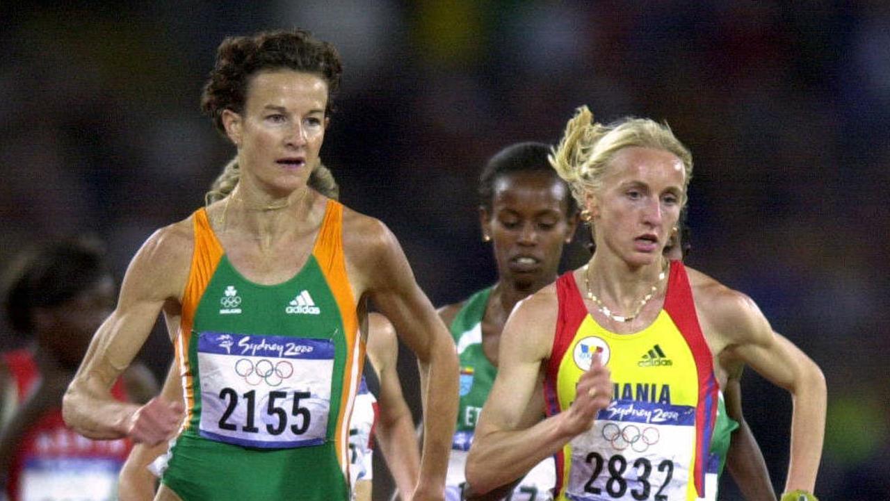 Irish champion runner Sonia O'Sullivan (L) is selling in Glen Iris. Pic Nathan Edwards