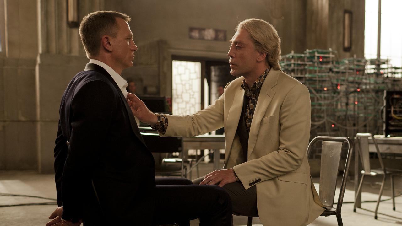Daniel Craig and Javier Bardem in that scene in Skyfall.