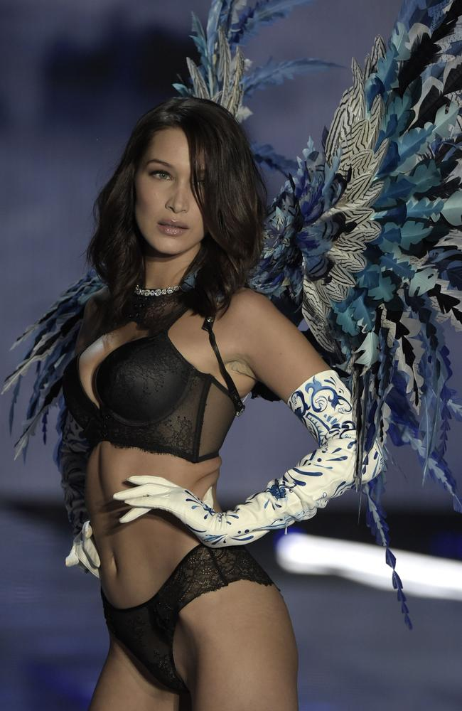 Bella Hadid who has walked down the runway for Victoria's Secret. Picture: AFP
