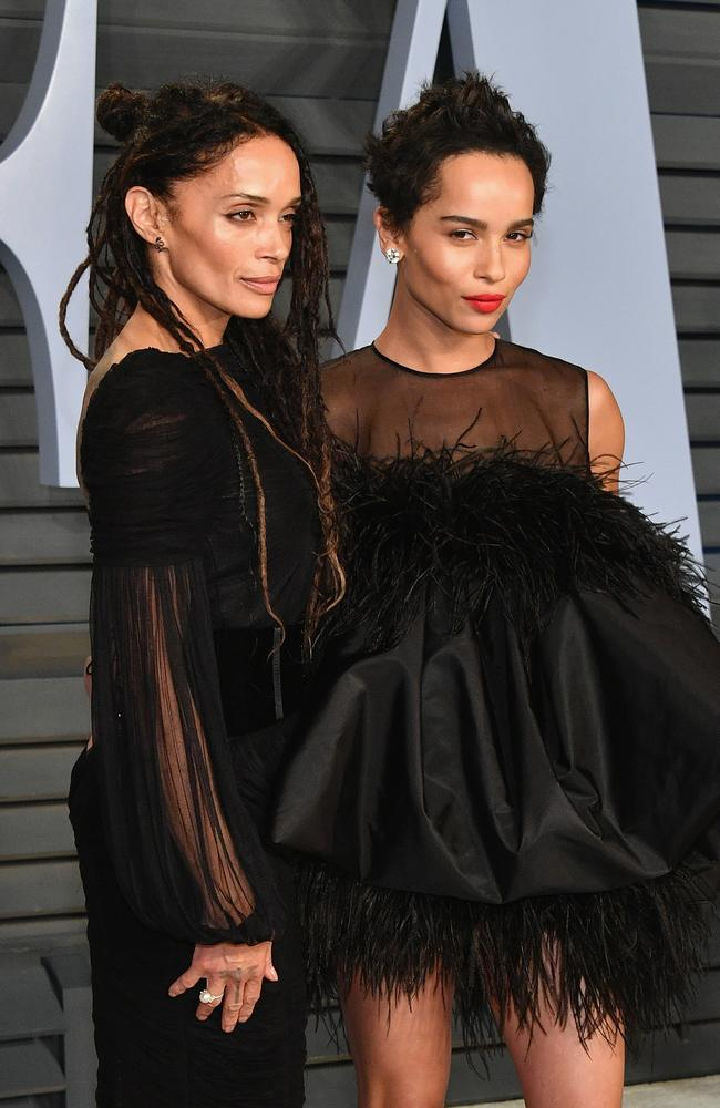 Lisa Bonet (L) and Zoe, 21 years between them. Picture: Getty