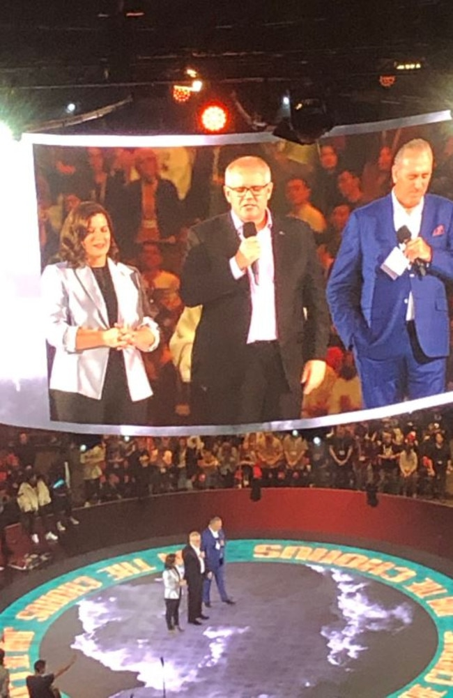 Prime Minister Scott Morrison and wife Jenny at the Hillsong conference.