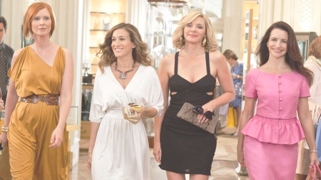 Friendships can survive post-babies - just look at Miranda and Charlotte. Image: Sex and the City 2.
