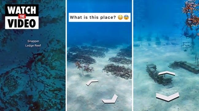 Conspiracy theorists go wild over bizarre secret 'town' discovered underwater