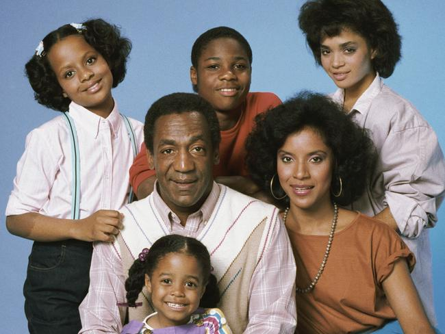 The Cosby Show cast (clockwise from top left) Tempestt Bledsoe as Vanessa Huxtable, Malcolm-Jamal Warner as Theodore 'Theo' Huxtable, Lisa Bonet as Denise Huxtable, Phylicia Rashad as Clair Hanks Huxtable, Keshia Knight Pulliam as Rudy Huxtable, (centre) Bill Cosby as Dr. Heathcliff 'Cliff' Huxtable. Picture: Supplied