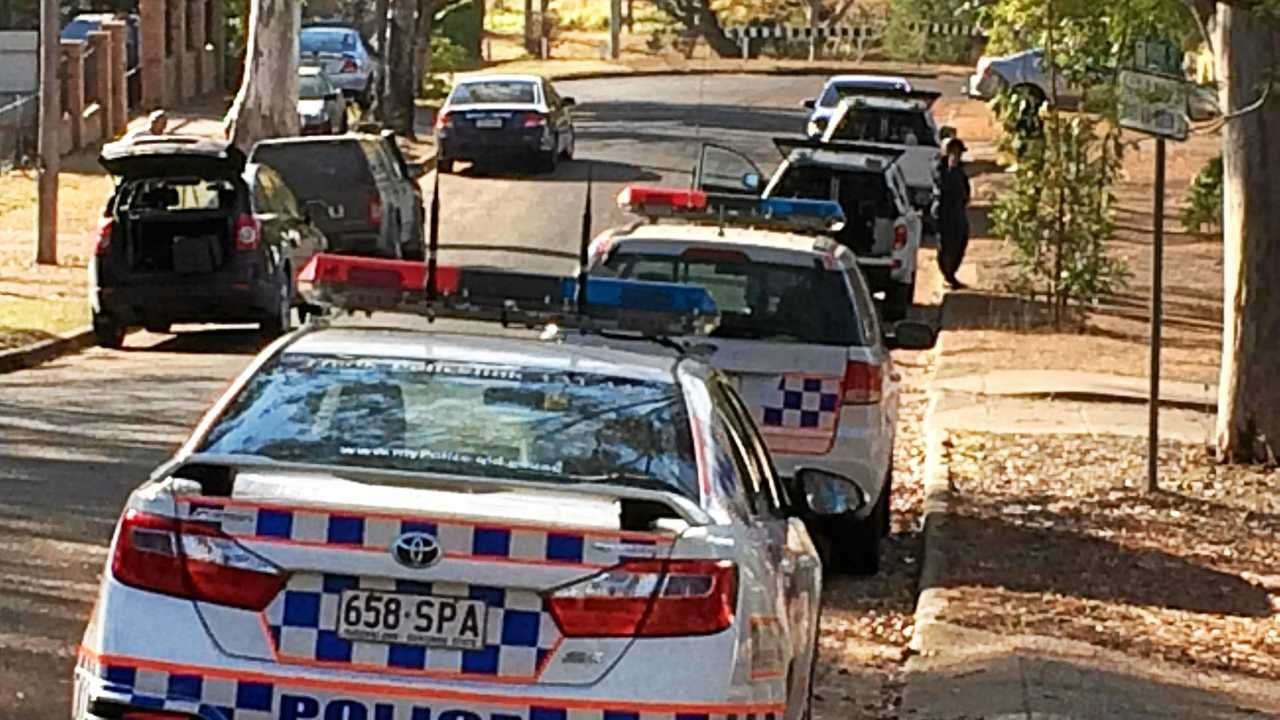 A man has been arrested after allegedly ramming his car into a marked police car in a hit and run incident this morning. Picture: Contributed