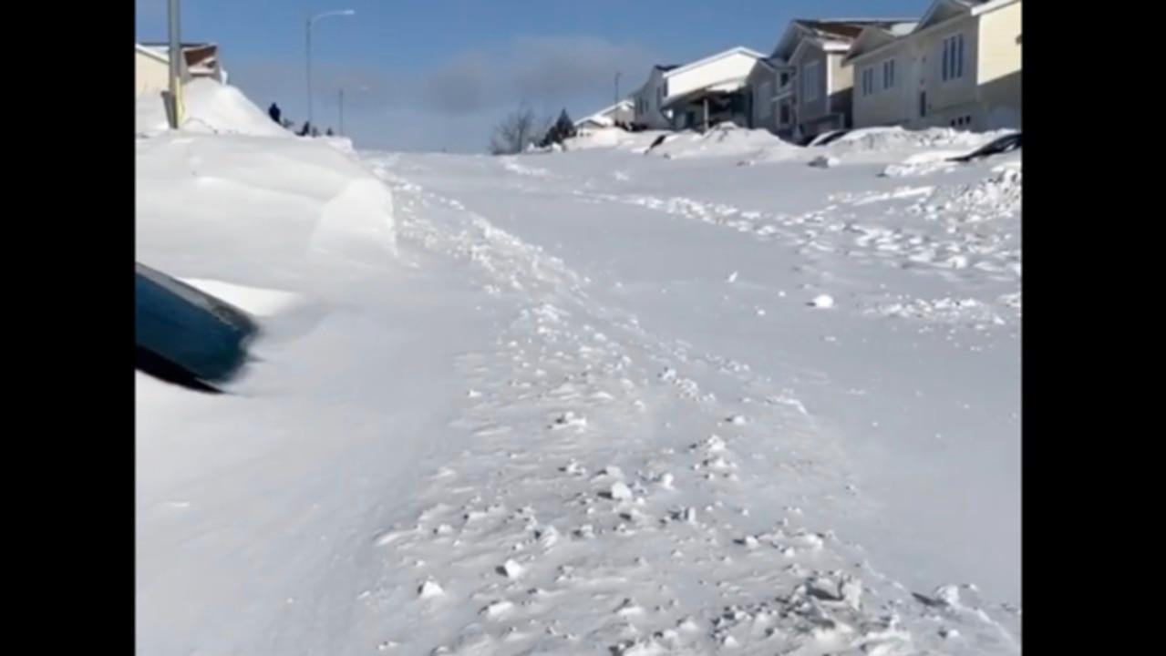 Neighborhoods in St. John's, Newfoundland, Buried After 'Monster Blizzard'
