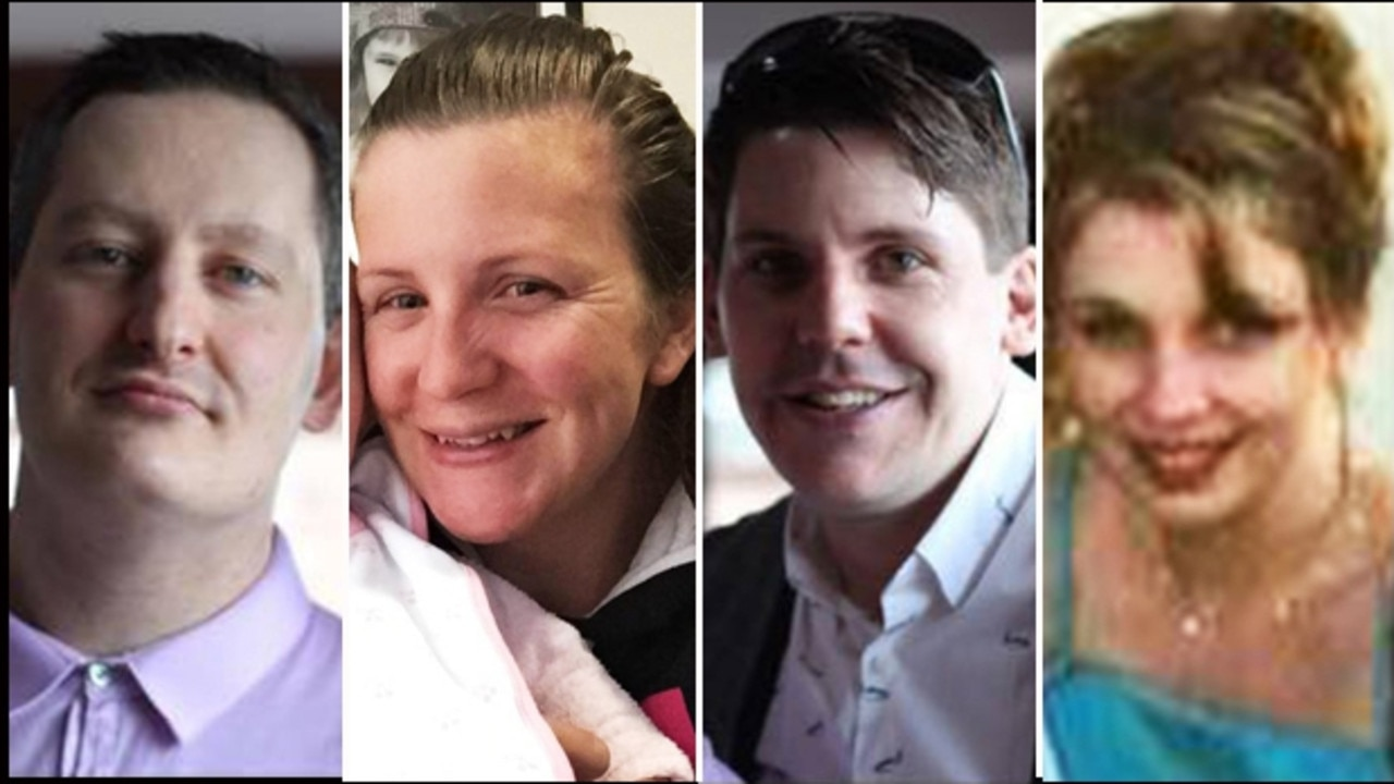 Major event - Dreamworld victims Kate Goodchild Luke Dorsett Roozi Araghi and Cindy Low. Picture: Supplied