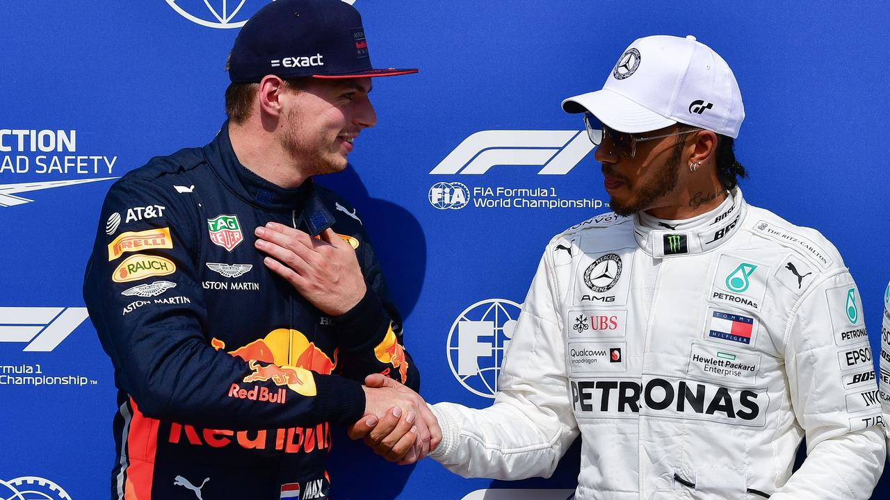 Lewis Hamilton and Max Verstappen would be unstoppable together. (Photo by Andrej ISAKOVIC / AFP)