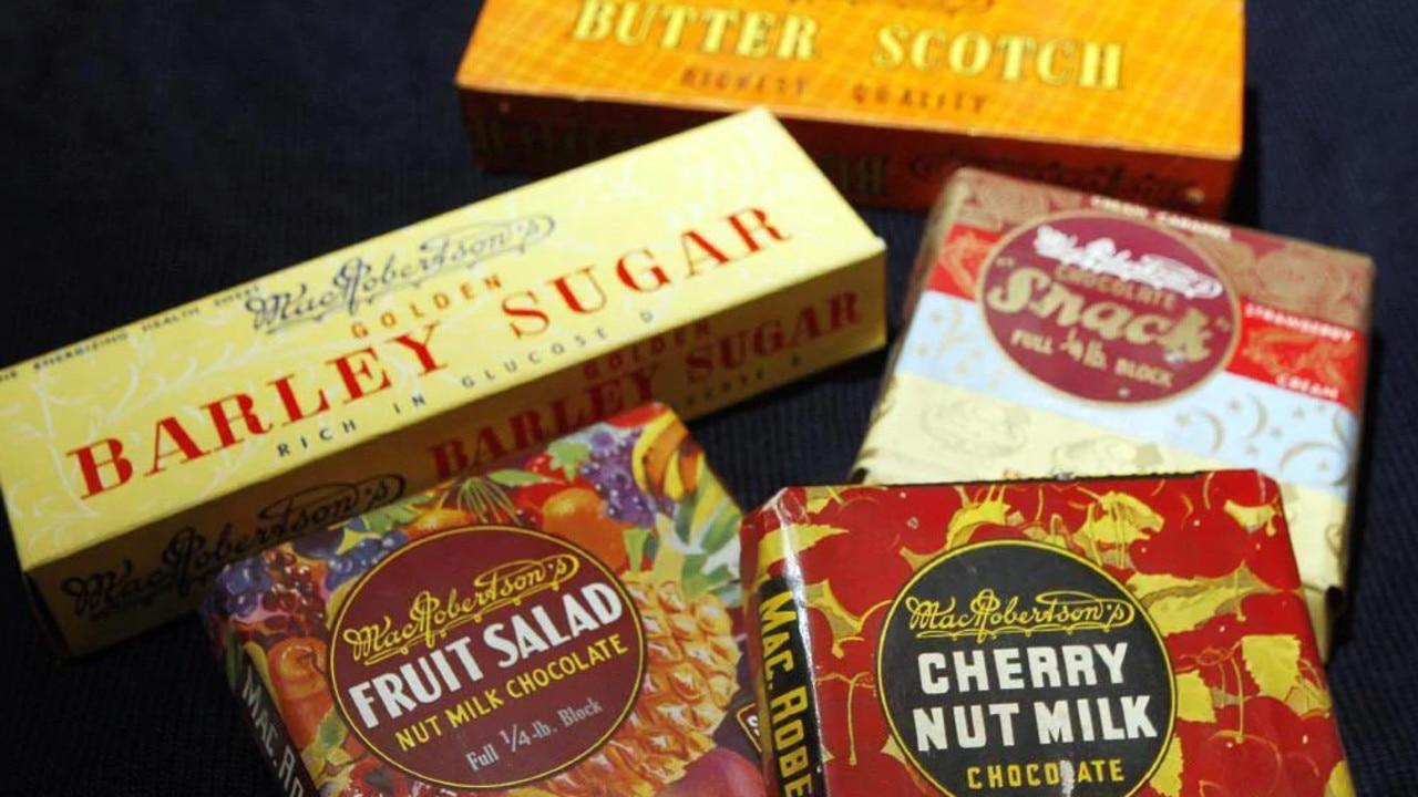 MacRobertson's chocolate and sweets.