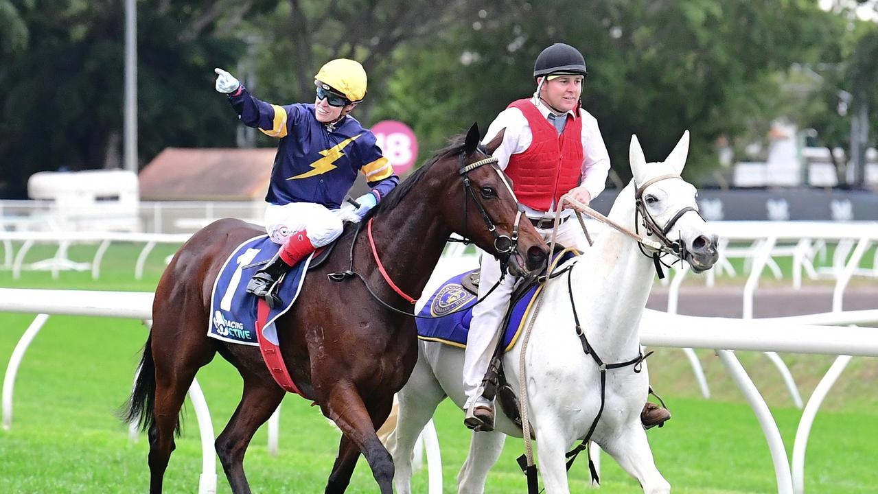 Craig Williams won the Tattersall's Tiara aboard Tofane. Photo: Grant Peters–Trackside Photography.