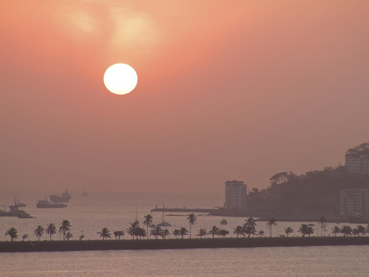 ESCAPE: PANAMA CANAL .. Veronica Matheson story .. Beautiful view of entry to the Panama Canal at sunrise. Picture: iStock