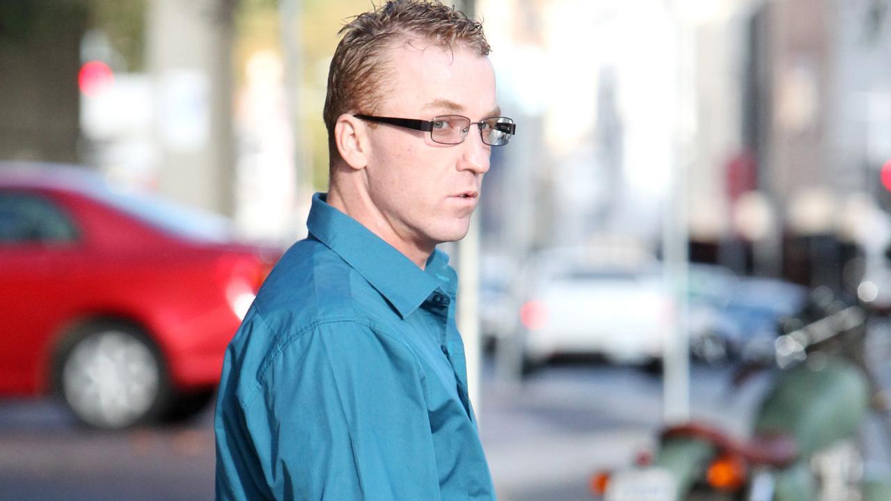 James Scott McCabe leaves the Launceston Magistrates court.