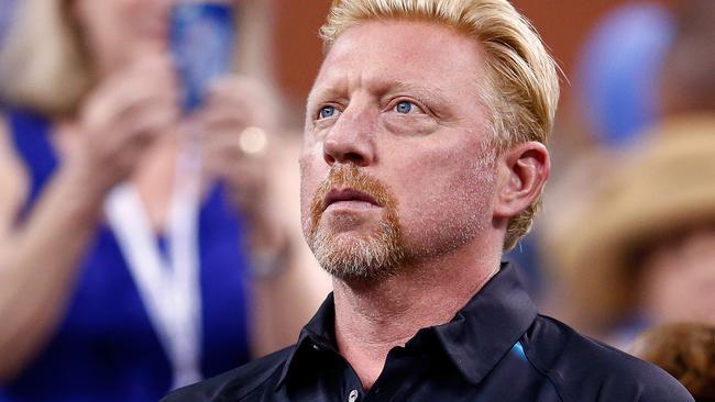 Novak Djokovic's coach, Boris Becker.