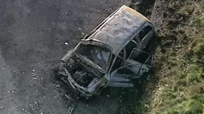 Car crashes near Apollo Bay, bursts into flames | Herald Sun