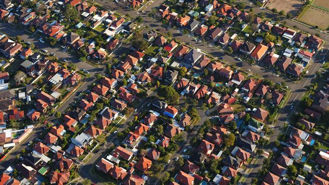 Macquarie Bank has pointed to a 7.5 per cent fall in property prices by early 2016. Picture: Kelly Rohan