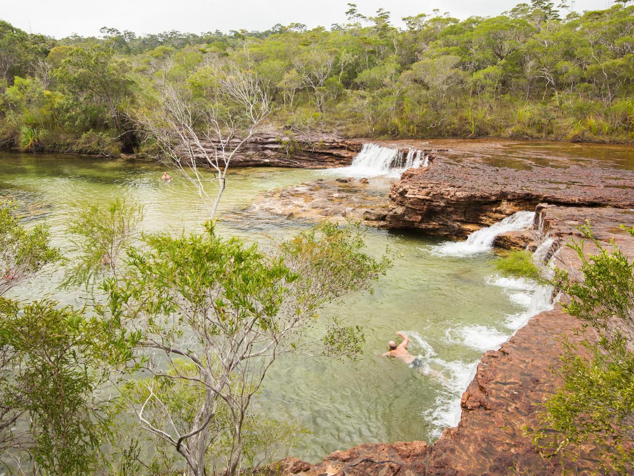 Fruit Bat Falls, Cape York. Picture: Tourism Tropical North Queensland/Andrew Tallon (must credit) Celeste Mitchell, Cape York 4WD, Sunday Escape