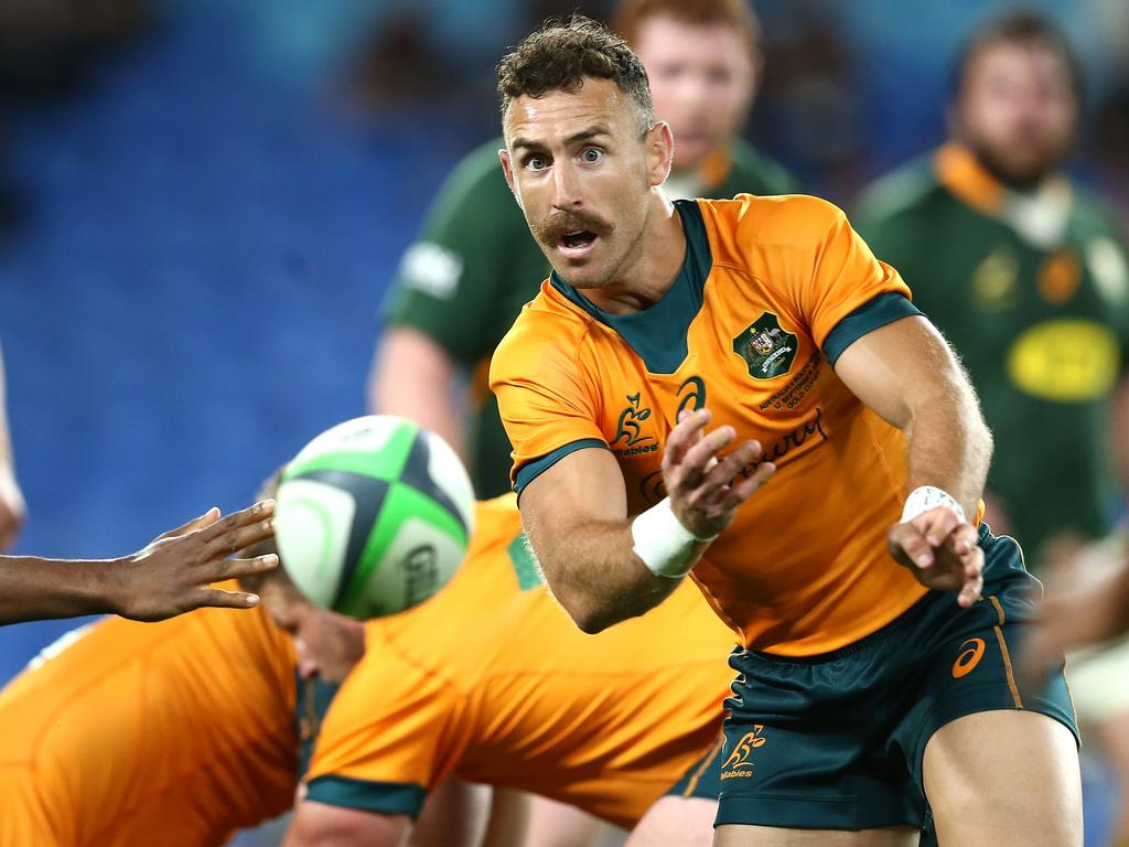 Nic White will partner Quade Cooper in that halves for the Wallabies against South Africa this weekend. Picture: Jono Searle/Getty Images