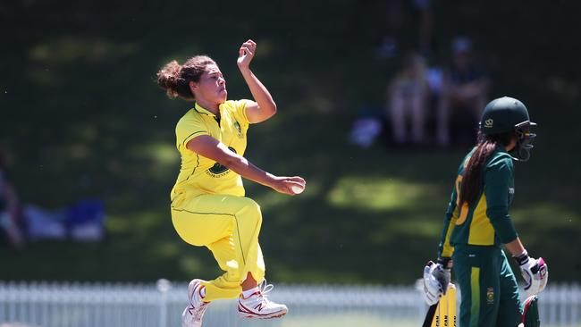 Belinda Vakarewa has made her debut for Australia at the World Cup. Picture. Phil Hillyard