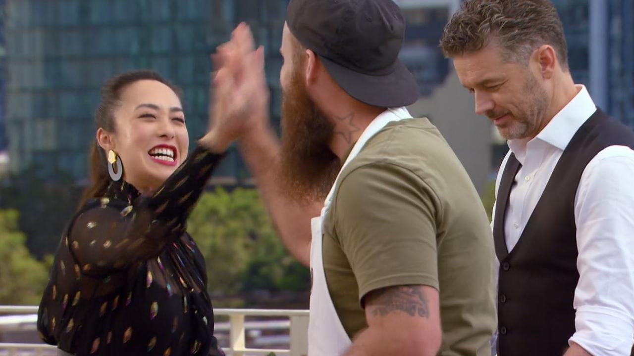 Mel's face says it all. Picture: Channel 10